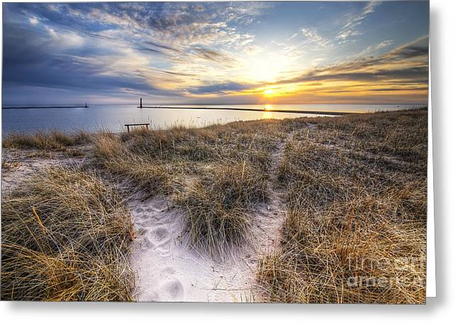 Beach In Frankfort Greeting Card