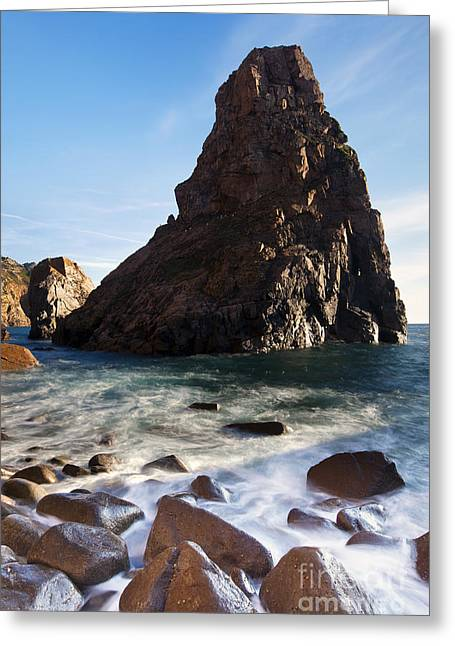 Beach In Sintra Natural Park Greeting Card by Andre Goncalves