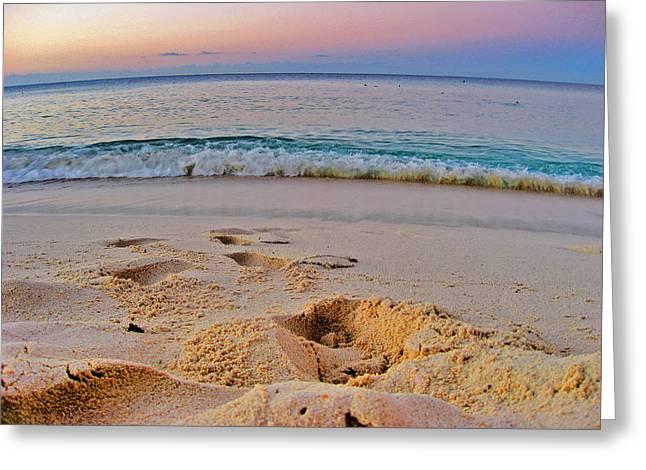 Beach Texture. La Romana. Dominican Republic. Greeting Card by Andy Za