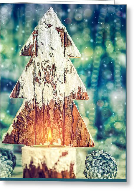 Beautiful Christmas Still Life Greeting Card by Anna Om