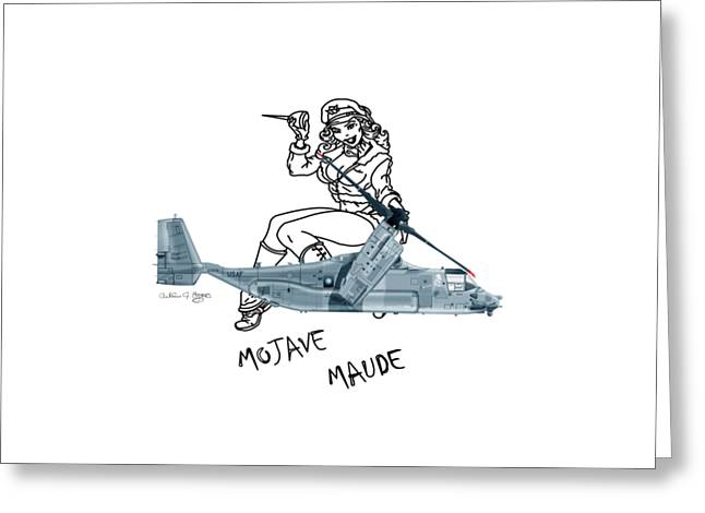 Bell Boeing Cv-22b Osprey Mojave Maude Greeting Card by Arthur Eggers