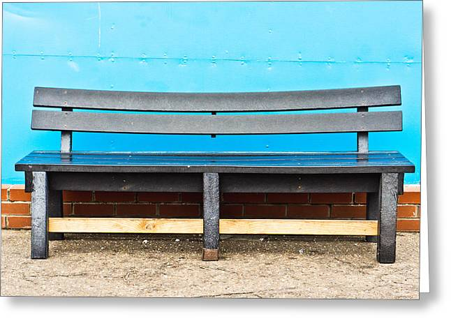 Bench Greeting Card by Tom Gowanlock