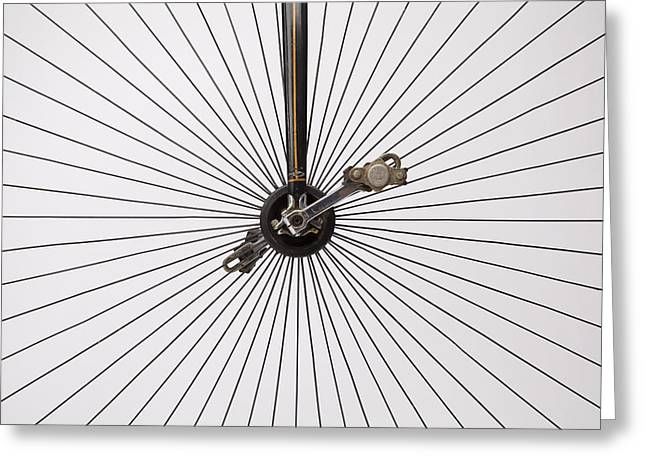 Bicycle Wheel Greeting Card