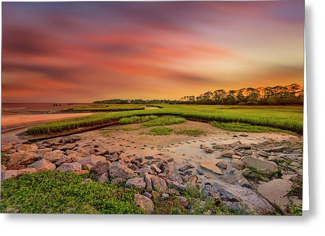 Greeting Card featuring the photograph Big Talbot Island by Peter Lakomy