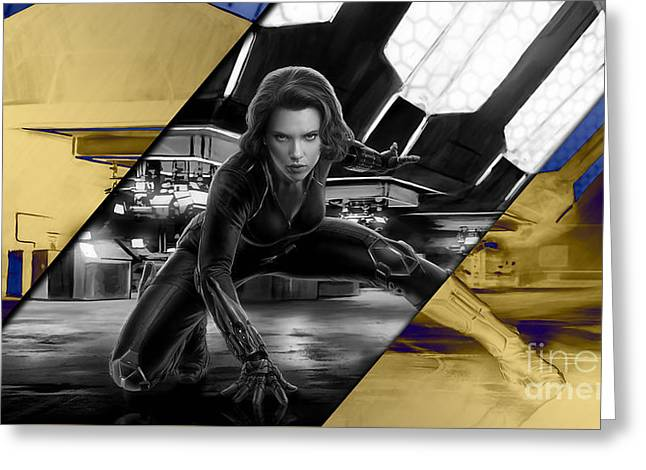 Black Widow Collection Greeting Card