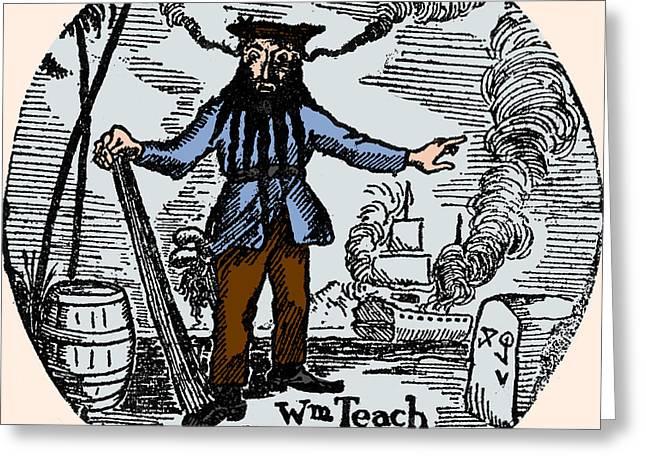 Blackbeard, Edward Teach, English Pirate Greeting Card by Science Source