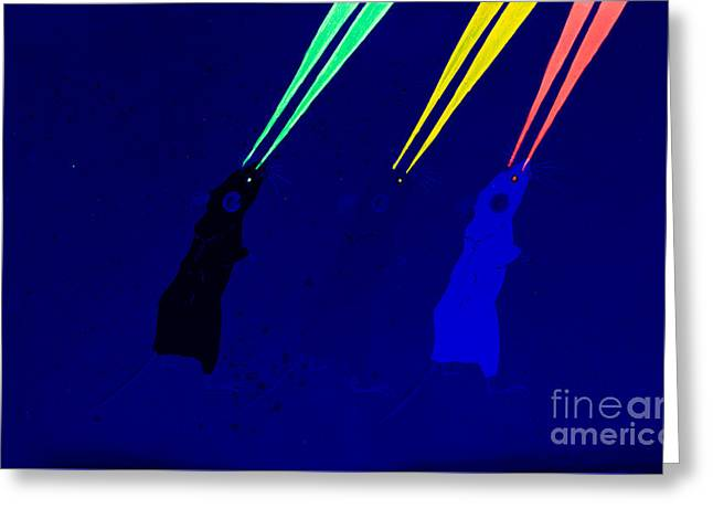 White Paintings Greeting Cards - 3 Blind Mice uv Greeting Card by Stefanie Forck
