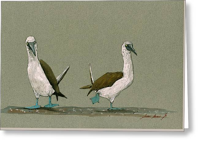 Blue Footed Boobies Greeting Card