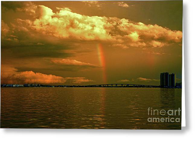 Greeting Card featuring the photograph 3- Blue Heron Bridge by Rainbows