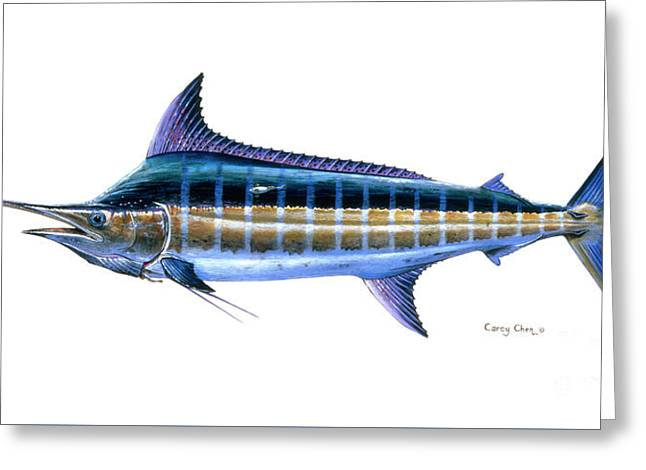 Blue Marlin Greeting Card by Carey Chen
