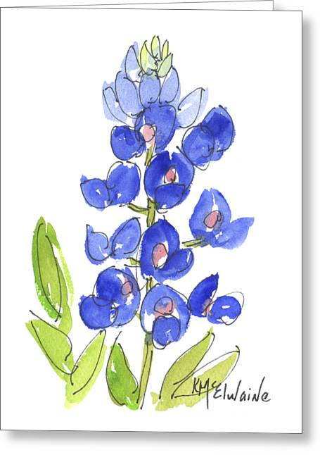 Bluebonnet Greeting Card by Kathleen McElwaine