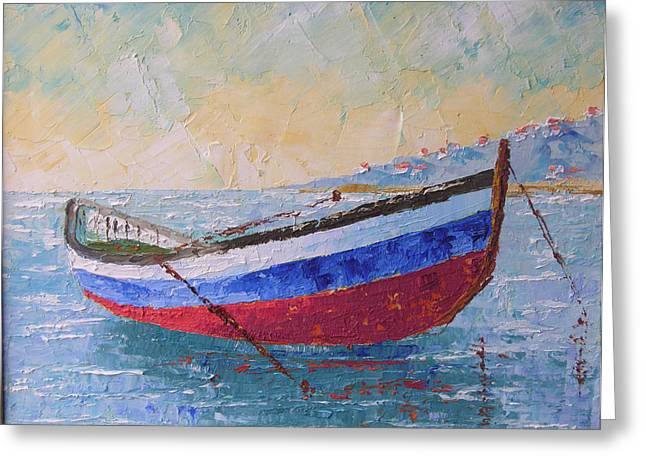 Boat Of Provence  Greeting Card by Frederic Payet