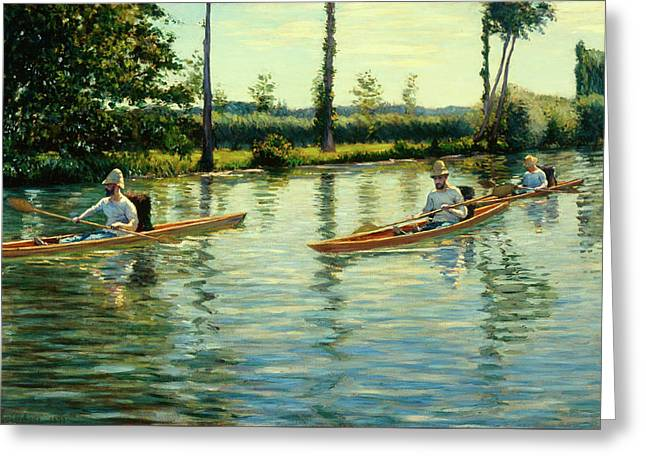 Boating On The Yerres Greeting Card