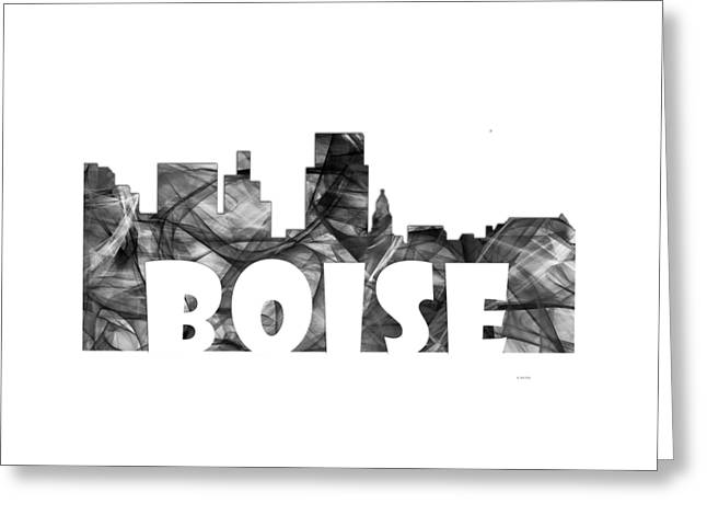 Boise Idaho Skyline Greeting Card