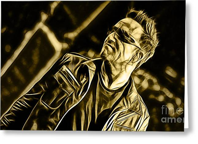 Bono U2 Collection Greeting Card by Marvin Blaine