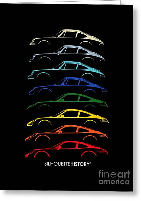 Boxer Sports Car Silhouettehistory Greeting Card by Gabor Vida