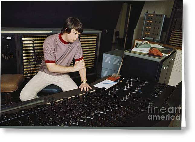 Brian Wilson Of The Beach Boys. Greeting Card by The Titanic Project