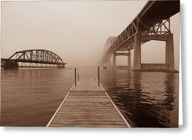 Bridged Greeting Card by Alison Gimpel