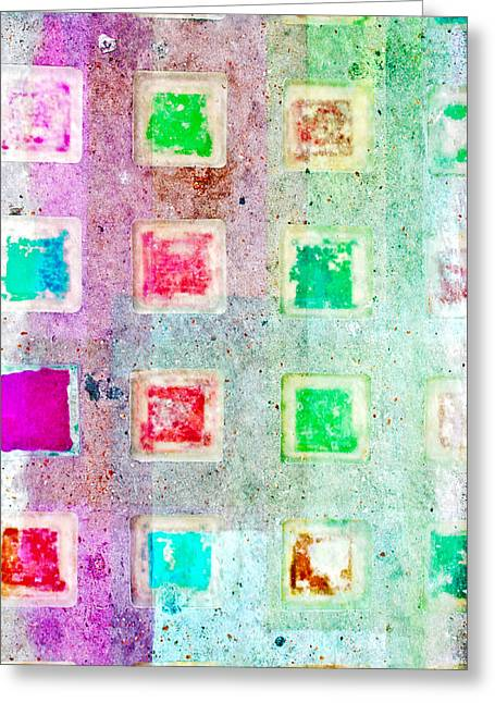 Bright Grunge Abstract Greeting Card by Tom Gowanlock