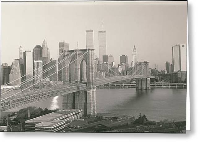 Brooklyn Bridge Manhattan New York City Greeting Card