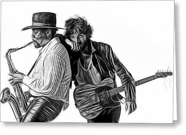 Bruce Springsteen Clarence Clemons Collection Greeting Card