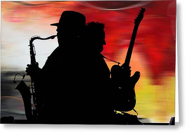 Bruce Springsteen Clarence Clemons Greeting Card