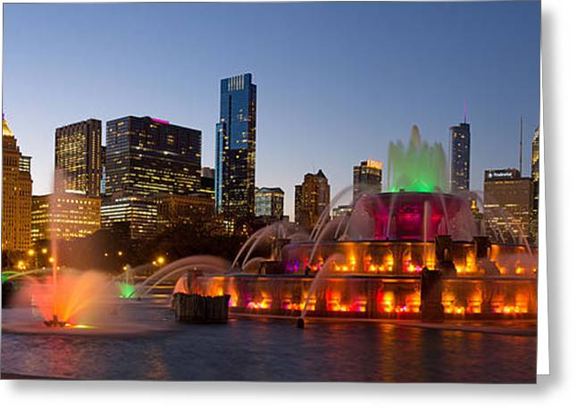 Buckingham Fountain Greeting Card by Twenty Two North Photography
