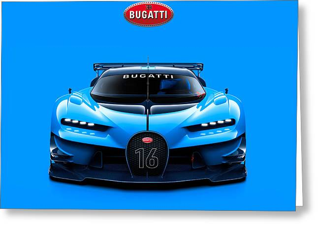 Bugatti Vision Gran Turismo Greeting Card by Mohamed Elkhamisy