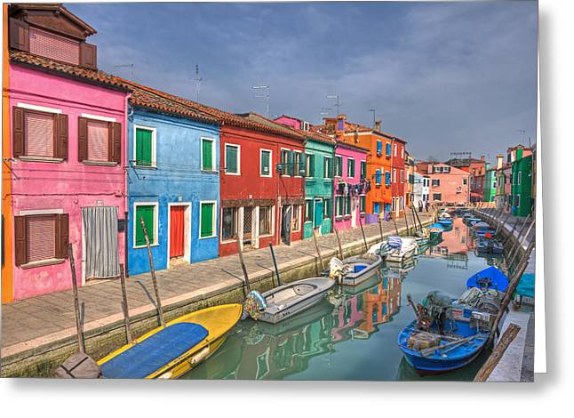 Burano - Venice - Italy Greeting Card