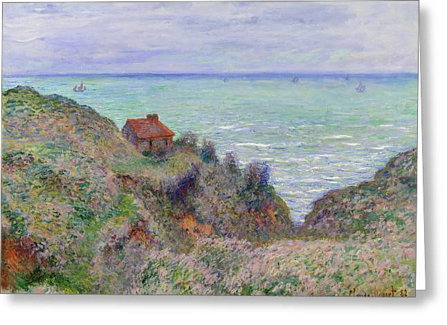 Cabin Of The Customs Watch Greeting Card by Claude Monet