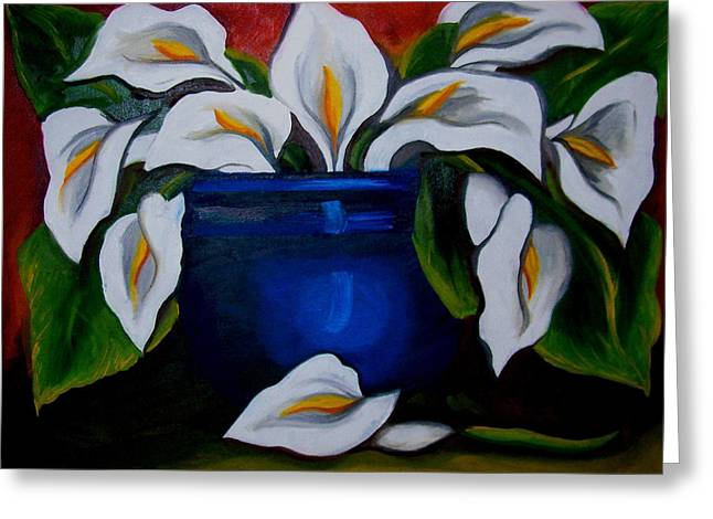 Calla Lilies Greeting Card by Misty VanPool