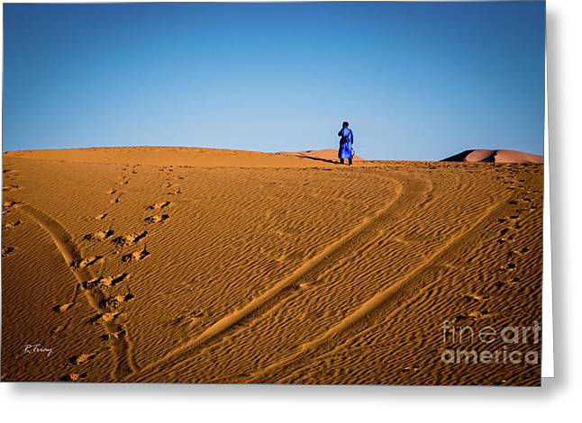 Tracks In The Sahara Greeting Card