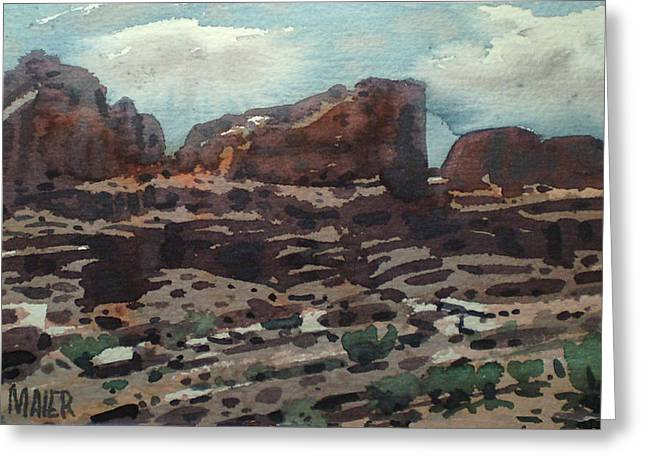 Canyonlands Greeting Card by Donald Maier