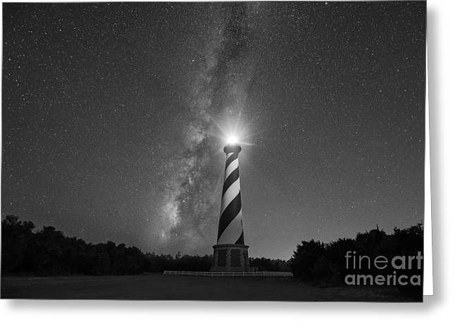 Cape Hatteras Lighthouse Milky Way Greeting Card
