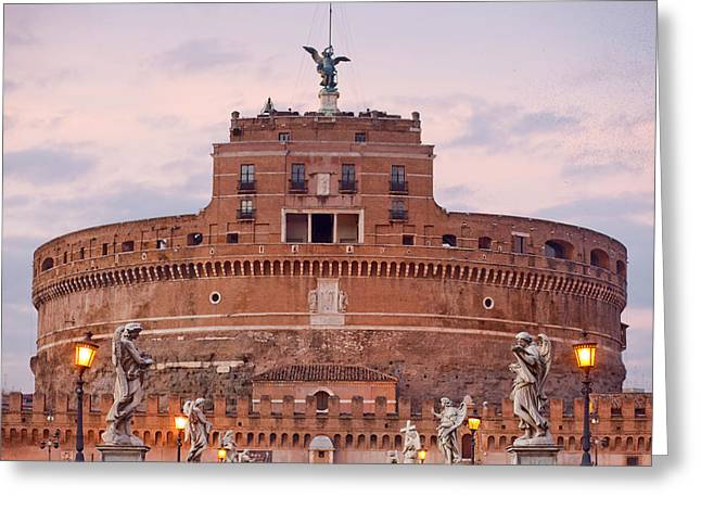 Castel Sant'angelo Greeting Card by Andre Goncalves