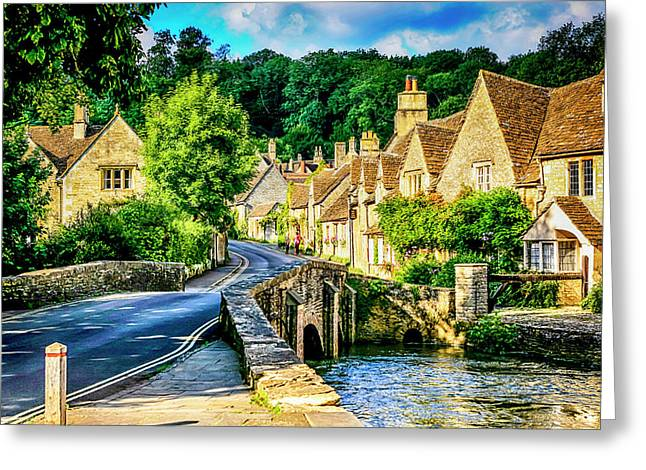 Castle Combe Village, Uk Greeting Card