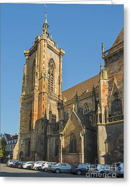 Cathedral Of Saint Martin In Colmar Greeting Card by Yefim Bam