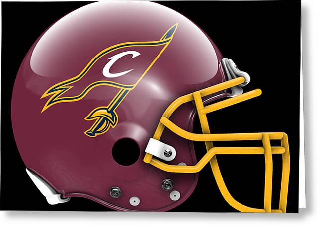 Cavaliers What If Its Football Greeting Card by Joe Hamilton