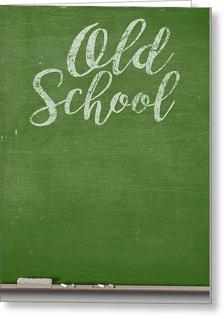 Chalk Board Greeting Card by Allan Swart