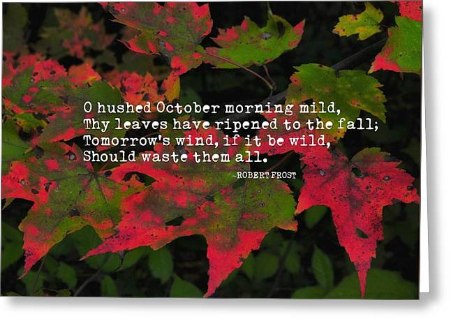 Changing Color Quote Greeting Card by JAMART Photography