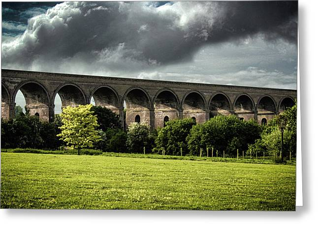 Chappel Viaduct Greeting Card by Martin Newman