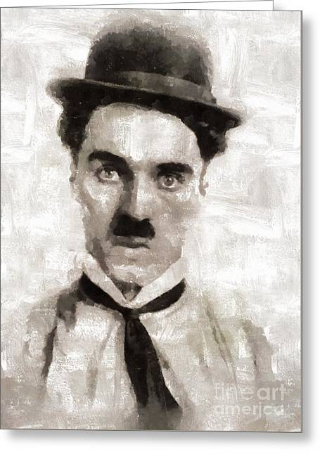 Charlie Chaplin Hollywood Legend Greeting Card