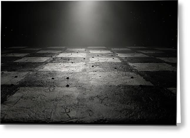 Chessboard Dark Greeting Card