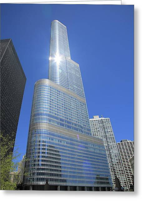 Chicago Skyscraper Greeting Card by Frank Romeo