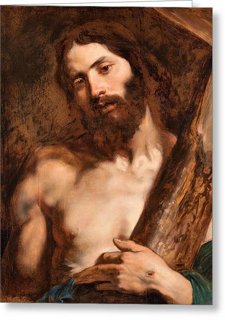 Christ Carrying The Cross Greeting Card by Anthony van Dyck