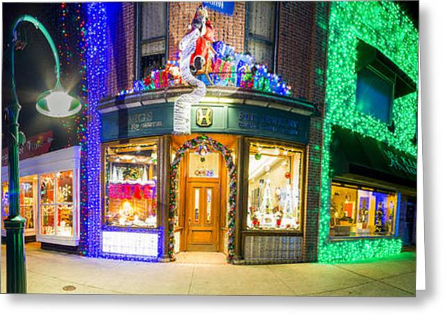 Christmas Lights In Rochester Greeting Card by Twenty Two North Photography