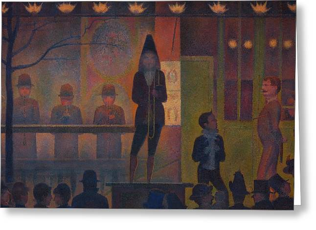 Circus Sideshow Greeting Card by Georges Seurat