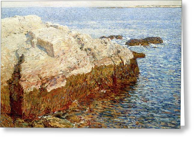 Cliff Rock - Appledore Greeting Card