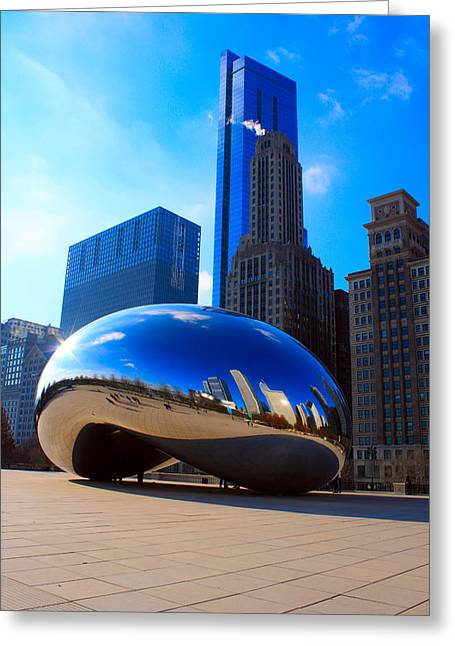 The Bean Greeting Cards - Cloud Gate Greeting Card by Ian Fagan