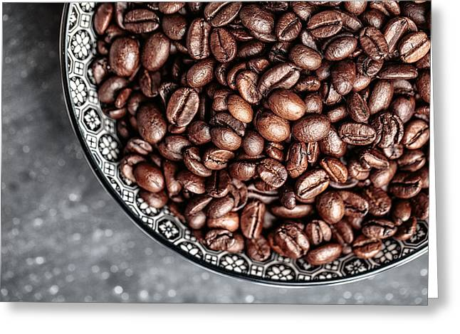 Coffee Greeting Card by Nailia Schwarz